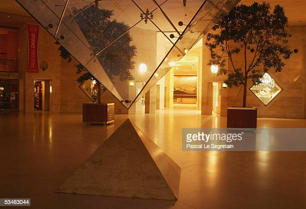 The Inverted Pyramid of the Caroussel du Louvre designed by IM Pei is seen on August 24 2005 in Paris France Dan Brown is the author of numerous...