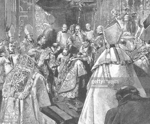 The Investiture of Archbishop Vaughan with the Pallium at the Brompton Oratory, August 16, 1892', . Herbert Alfred Henry Vaughan was an English...