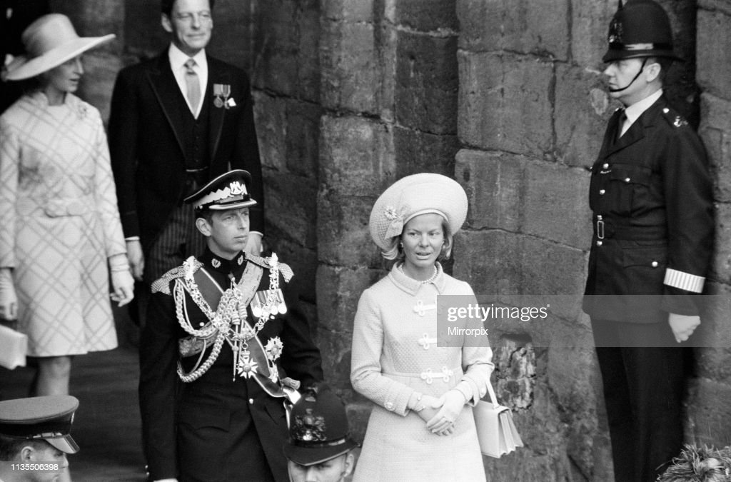 Investiture of Prince Charles, 1969 : News Photo