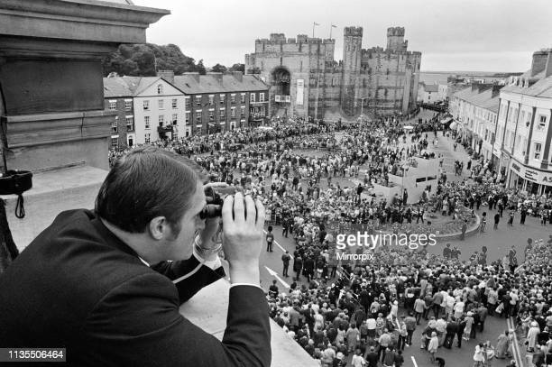 The Investiture of Prince Charles at Caernarfon Castle, Caernarfon, Wales, 1st July 1969.