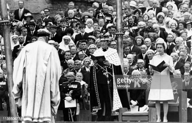 The Investiture of Prince Charles at Caernarfon Castle Caernarfon Wales 1st July 1969