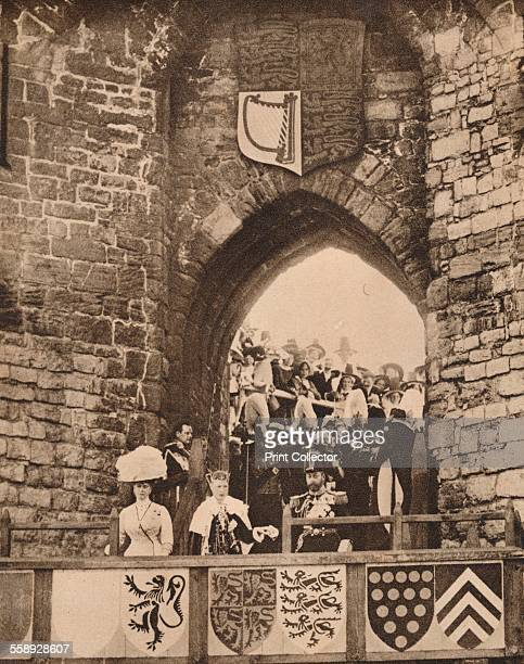 The investiture of the Prince of Wales at Caernarvon Castle 13 July 1911 King George V presenting the Prince to the Assembly From The Royal Jubilee...