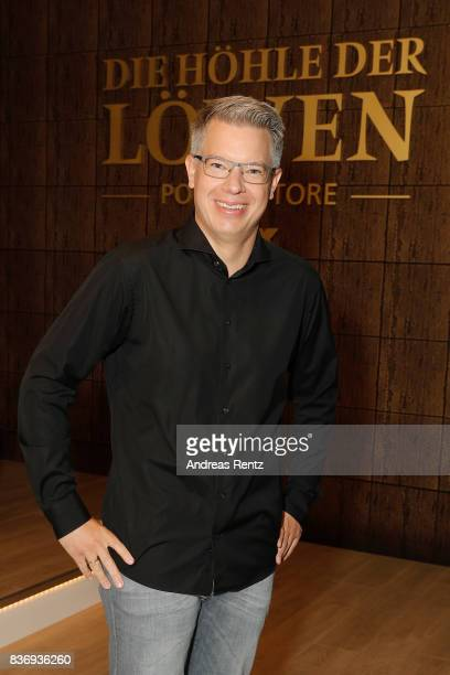 The investor Frank Thelen poses during the photo call for the fourth season of the TV show 'Die Hoehle der Loewen' on August 22 2017 in Cologne...