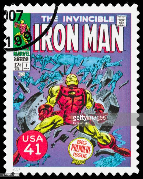 USA die unbesiegbare Iron Man comic book cover Briefmarke