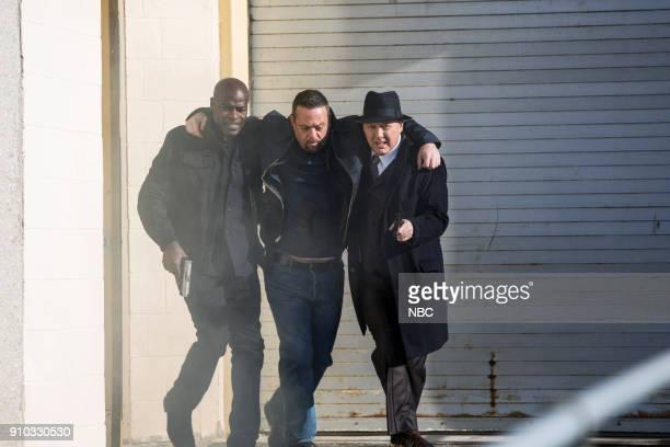 THE BLACKLIST 'The Invisible Hand ' Episode 513 Pictured Hisham Tawfiq as Dembe Zuma Lenny Venito as Tony Pagliaro James Spader as Raymond 'Red'...