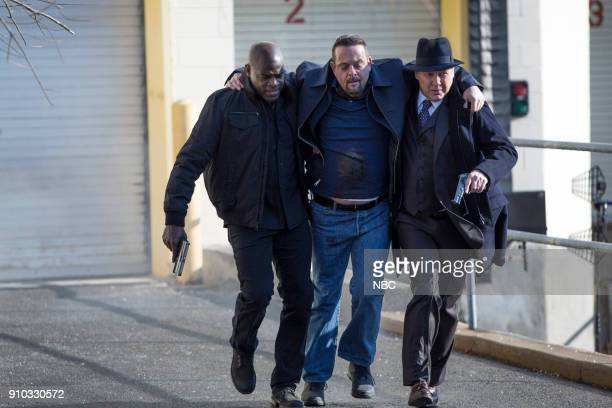 THE BLACKLIST 'The Invisible Hand ' Episode 513 Pictured Hisham Tawfiq as Dembe Zuma Lenny Venito as Tony Pagliaro James Spader as Raymond 'Red'...