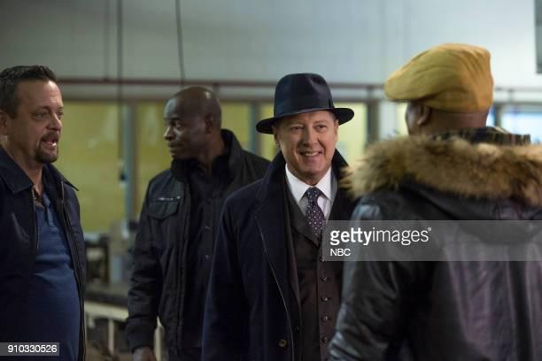 THE BLACKLIST 'The Invisible Hand ' Episode 513 Pictured Lenny Venito as Tony Pagliaro Hisham Tawfiq as Dembe Zuma James Spader as Raymond 'Red'...