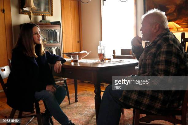 THE BLACKLIST The Invisible Hand Episode 513 Pictured Megan Boone as Elizabeth Keen Brian Dennehy as Dom