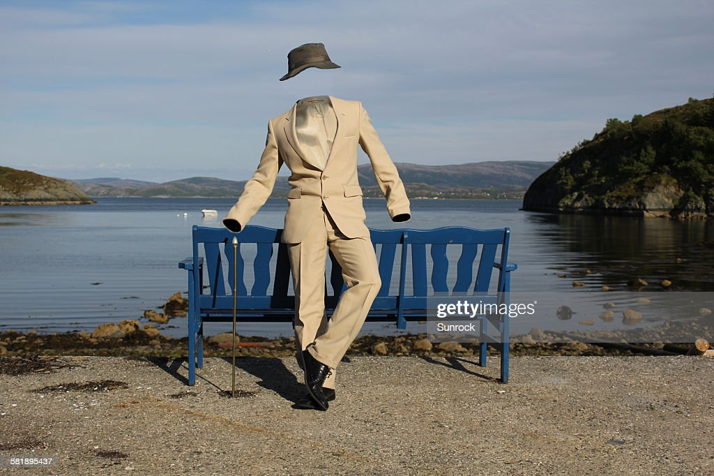 The Invisible Man in a Suit : Stock Photo