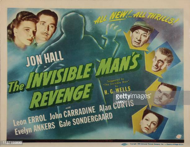 The Invisible Man's Revenge poster top left from left Evelyn Ankers John Hall right from top Leon Errol John Carradine Alan Curtis Gale Sondergaard...