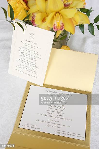 RATES The invitation for the wedding of Ivana Trump and Rossano Rubicondi at the MaraLago Club on April 12 2008 in Palm Beach Florida Cake Lambertz...