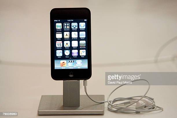 The iPod touch is on display at the the Moscone Center at the 2008 Macworld Conference and Expo January 15 2007 in San Francisco California The...