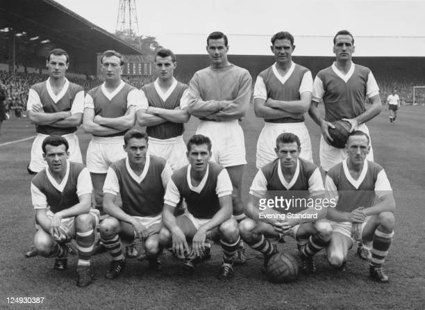 The Ipswich Town FC team 26th October 1961 Back row left to right John Compton Larry Carberry Billy Baxter Roy Bailey John Elsworthy and Andy Nelson...