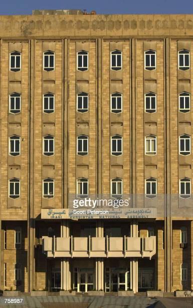 The Iraqi Kurdish Parliament building is shown March 23 2002 in Arbil Iraq Free of Saddam Hussein's control in the safe haven of northern Iraq Kurds...