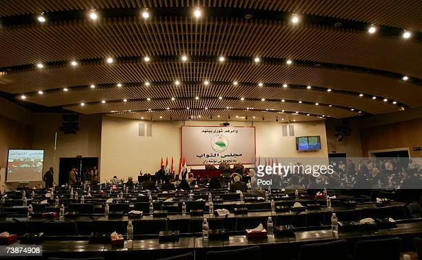 The Iraqi Parliament holds a special session April 13 2007in Baghdad Iraq Leaders from across Iraq's bitter sectarian divide pleaded for unity at the...
