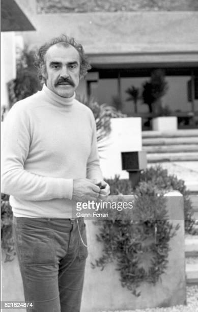 The Irish actor Sean Connery playing golf La Manga del Mar Menor Murcia Spain