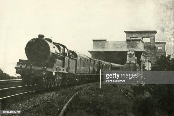 The Irish Mail Leaving The Menai Bridge' circa 1930 From 'The Splendid Book of Locomotives' by C Gibbard Jackson [Sampson Low Marston Co Ltd London...