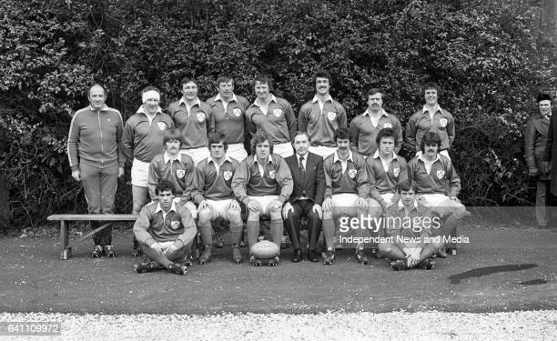 The Irish Rugby Team at Lansdowne Road Dublin before the match between Ireland and England