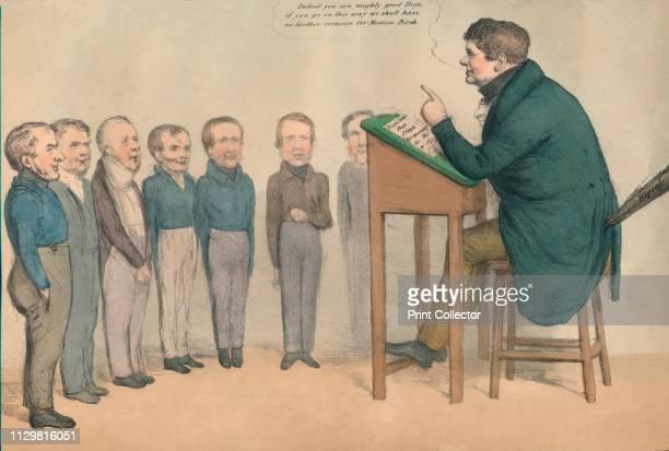 'The Irish Tutor' 1836 Satirical caricature of British politicians John William Ponsonby Earl of Bessborough George William Frederick Howard Earl of...