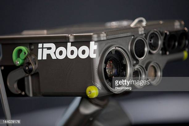The iRobot Corp. SUGV-00734 robot is displayed during the Atlantic Innovation Summit at Reagan National Airport in Washington, D.C., U.S., on...