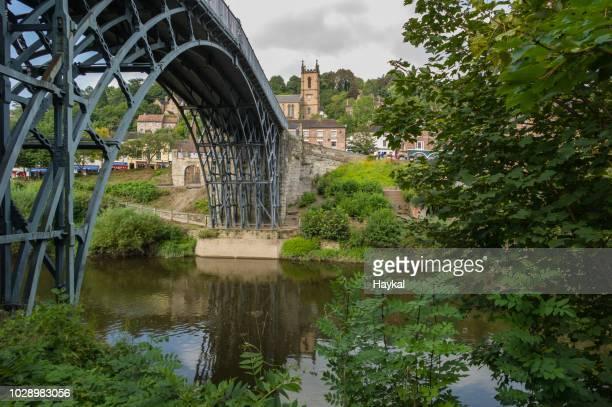 the iron bridge - ironbridge shropshire stock pictures, royalty-free photos & images