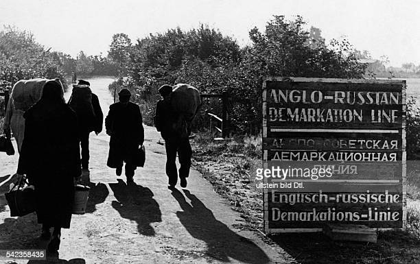 The 'Iron Curtain' between the Western Zones and the Soviet Zone in Germany September 1947
