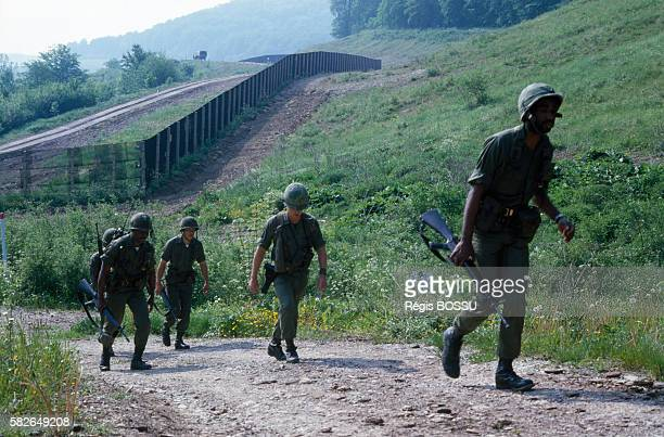 The Iron Curtain delimits the border that stretched across Europe during the Cold War separating European states under Soviet influence from...