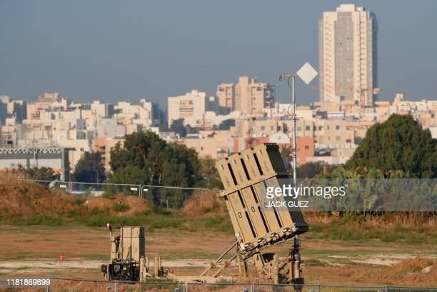 The Iron Dome defence missile system, designed to intercept and destroy incoming short-range rockets and artillery shells, is pictured in the...