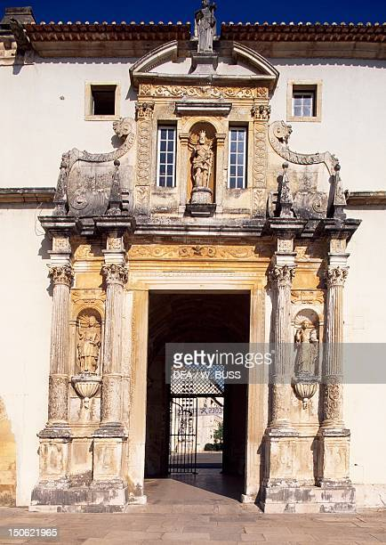The iron doors to the University of Coimbra Portugal 17th century
