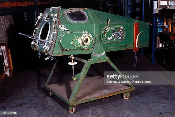 The Iron Lung is shown in the process of being moved out of the Science Museum's Hayes Store in Middlesex in 1993 The world's first life support...