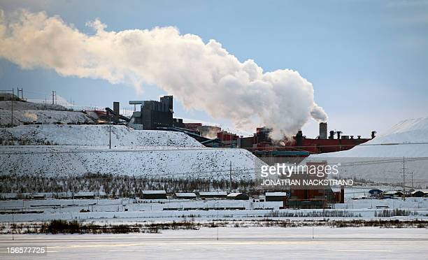 The iron mine of Swedish stateowned mining company LKAB at Sweden's northernmost town of Kiruna situated in the province of Lapland is pictured on...