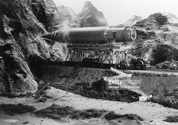 The Iron Mole is featured in a scene from the movie 'At The Earth's Core' in 1976 in Pinewood Studios England