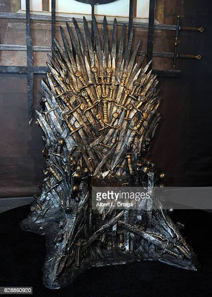 The Iron Throne of Westros at HBO's Game Of Thrones Season 6 Behind The Scenes Fan Event held at Hollywood Highland on December 9 2016 in Hollywood...