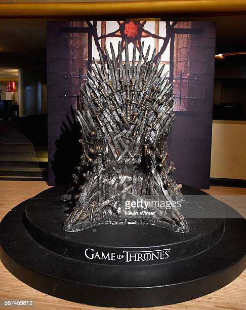 The Iron Throne on display during the announcement of the Game of Thrones® Live Concert Experience featuring composer Ramin Djawadi at the Hollywood...