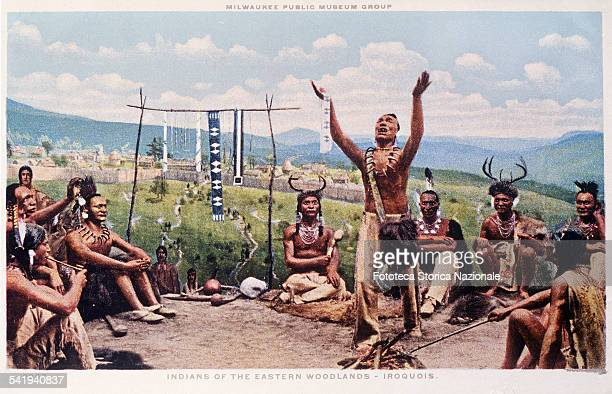 The Iroquois tribes developed before the advent of the whites one of the more elaborate systems of government This scene describes Hiawatha that...