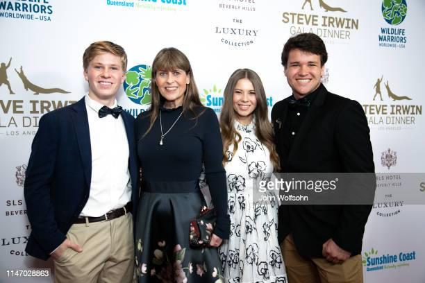 The Irwin Family Robert Irwin Terri Irwin Bindi Irwin and Chandler Powell attend Steve Irwin Gala Dinner at SLS Hotel on May 04 2019 in Beverly Hills...