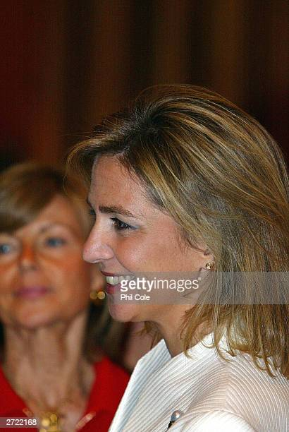 The ISAF Rolex World Sailor of the year awards 2003 Cristina Duquesa De Palma during an awards ceromony November 12 2003 at the Fira Palace in...