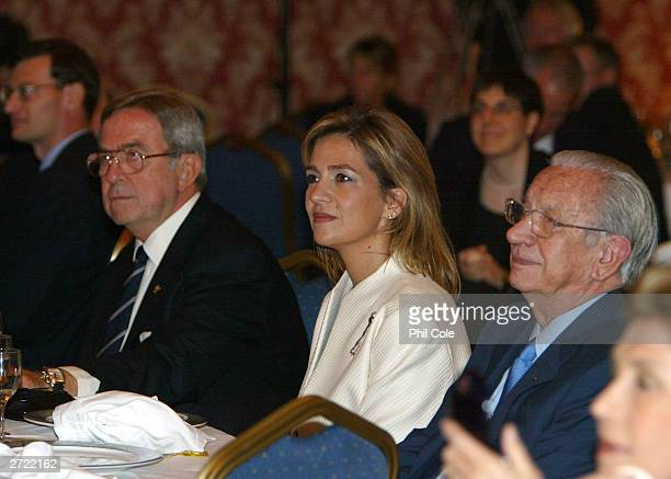 The ISAF Rolex World Sailor of the year awards 2003 His Majesty King Constantine and Cristina Duquesa de Palma sits with Excmo Sr D Juan Antonio...