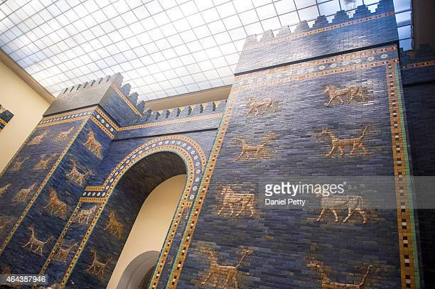 The Ishtar Gateis shown in the Pergamon Museum on November 28 2014 in Berlin Germany
