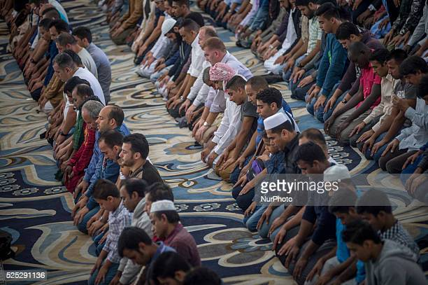 The Islamic community of Rome celebrates the festival of sacrifice, Id al-Adha, in Mosque of Rome on September 24, 2015.