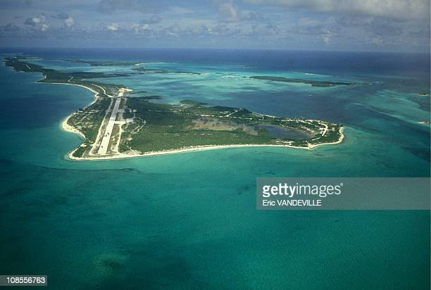 The island of Carlos Lehder in the Bahamas with a 2km private landing strip From here drugs arriving from Colombia are sent off in small planes to...