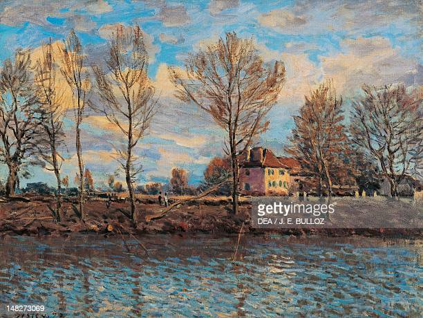 The Island of La Grande Jatte by Alfred Sisley oil on canvas 50x65 cm Paris Musée D'Orsay