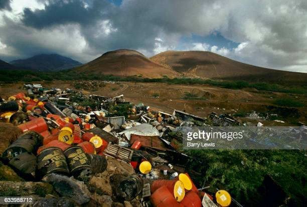 The island rubbish dump 27th May 1997 on Ascension a small isolated volcanic island in the equatorial waters of the South Atlantic Ocean roughly...