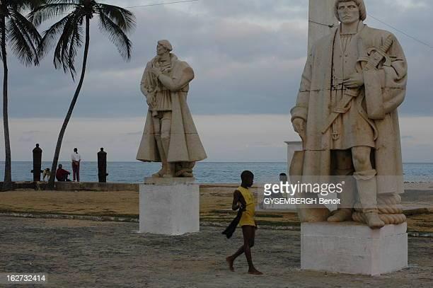 The Islands Of Sao Tome And Principe La place du Musée national ornée des statues des découvreurs portugais Joao DE SANTAREM Pedro ESCOBAR et Joao DE...