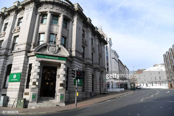 The Isle of Man Bank is pictured in Douglas on the Isle of Man an island in the Irish Sea off of the west coast England on November 8 2017 The Isle...