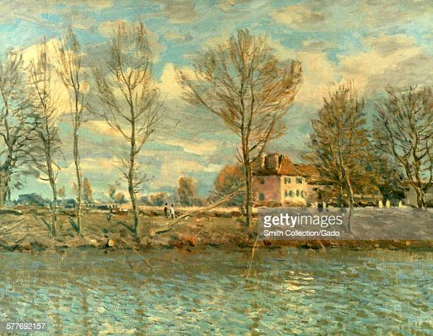 The Isle of the GrandJatte Alfred Sisley oil on canvas Paris France 1873