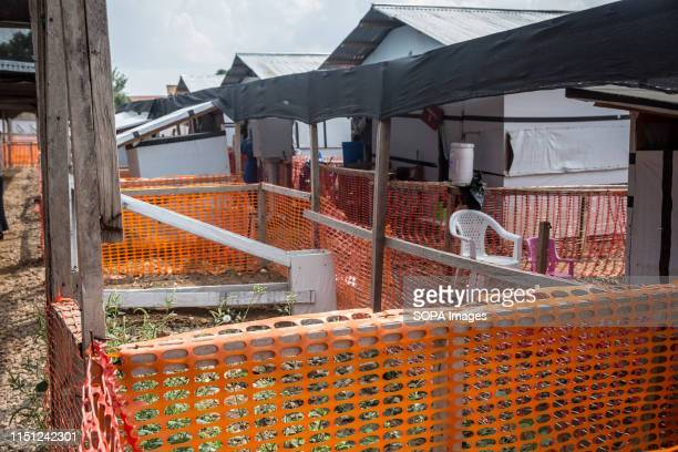 The isolation area where suspected and confirmed Ebola cases are kept at the Ebola treatment centre in Beni eastern Democratic Republic of the Congo...
