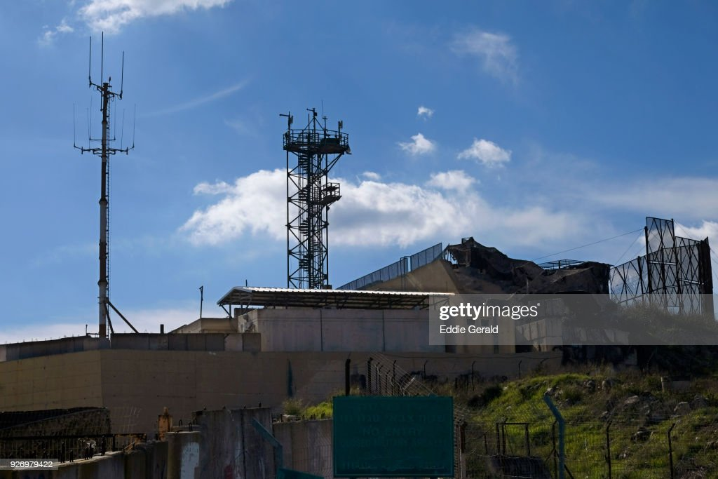 The Israel Lebanon Border : Foto de stock
