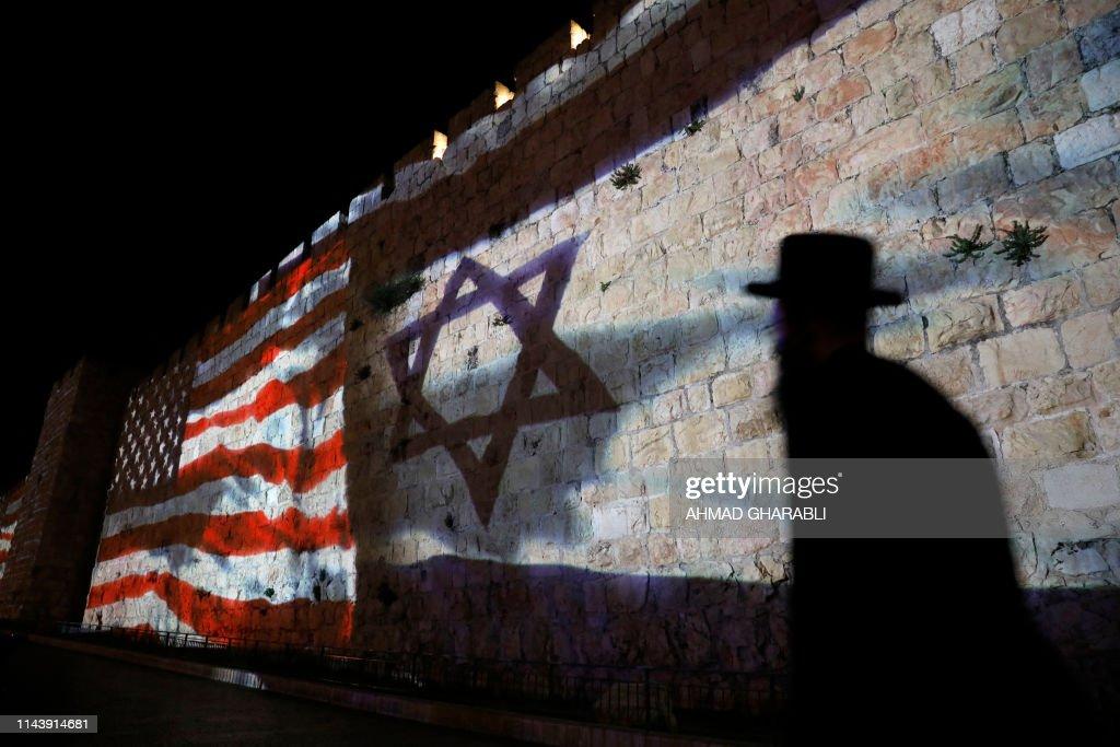 ISRAEL-US-POLITICS-DIPLOMACY-EMBASSY-Palestinians : News Photo