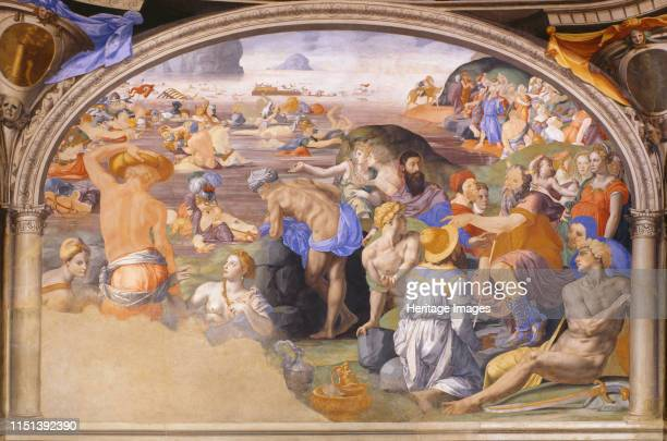 The Israelites crossing of the Red Sea 15401545 Found in the collection of the Palazzo Vecchio Florence Artist Bronzino Agnolo